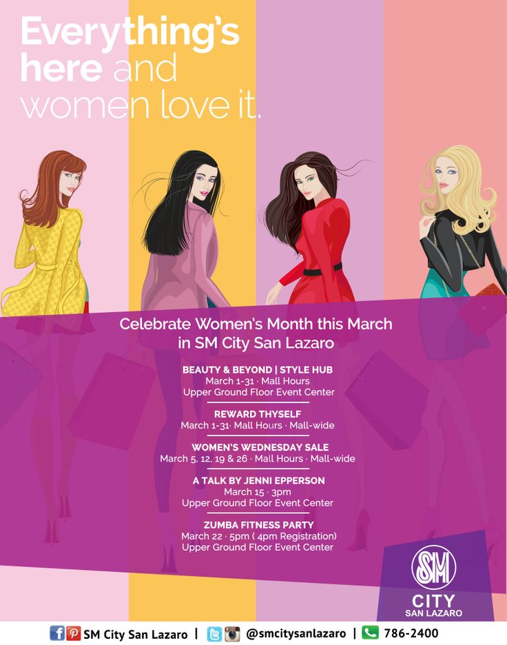 Catch the remaining events for Women's Month this March! See you at our Bazaar located at the Upper Ground Floor until March 31 and on March 26 for Women's Wednesday Sale!   #womenLoveIt #womensWednesdaySale #womensMonthinSMCITYSANLAZARO