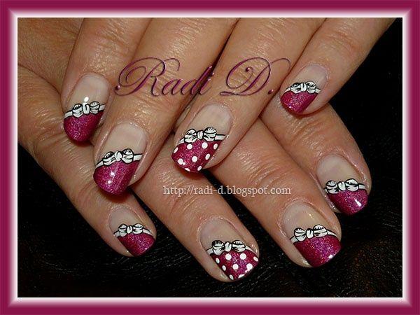 Bows and dots - Nail Art Gallery