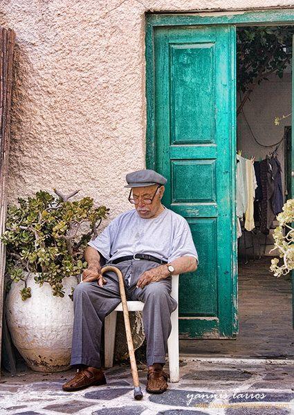 Power nap in Paros, Greece