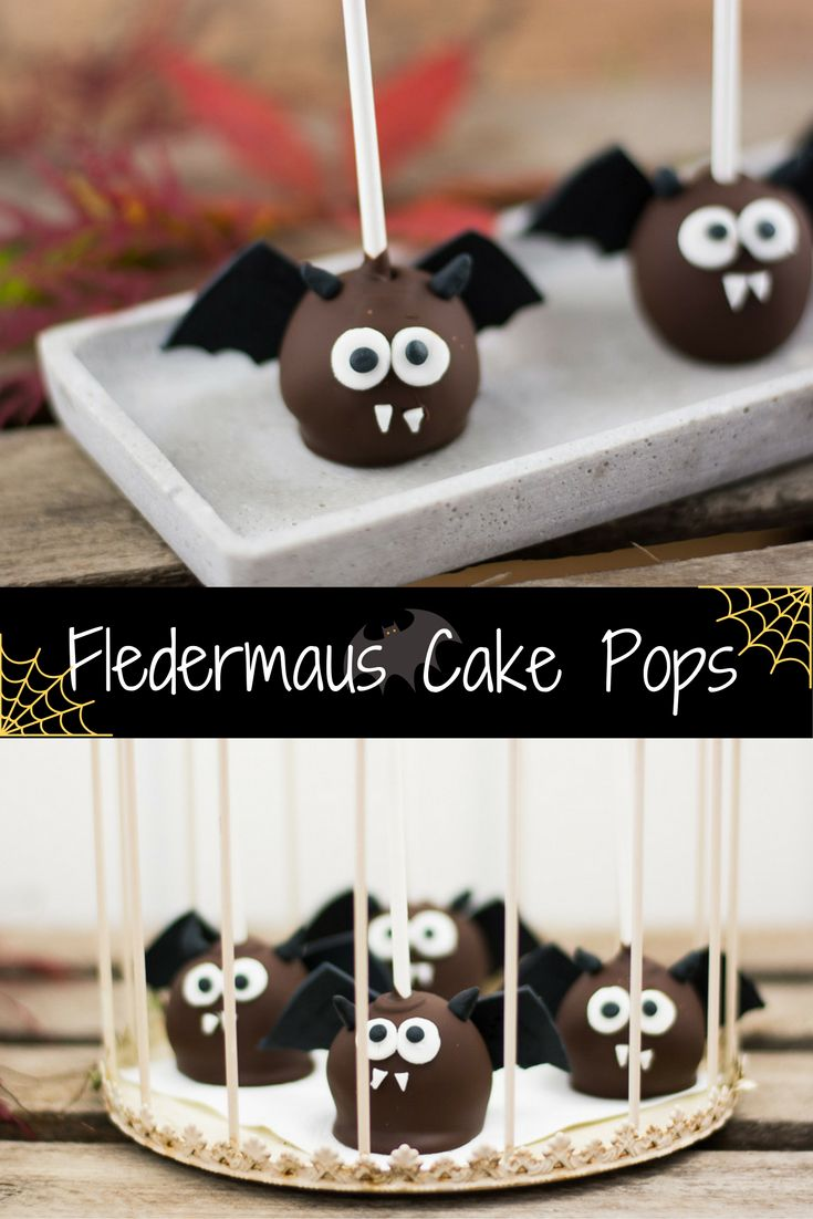 Dracula Bats – or – The Cutest Halloween Cake Pops