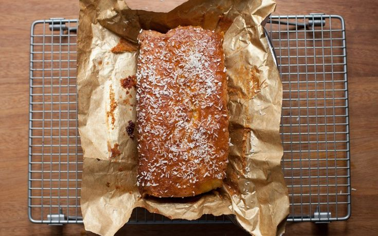 A soft, fluffy coconut cake laced with apricot jam from the award-winning food blog Poires au Chocolat