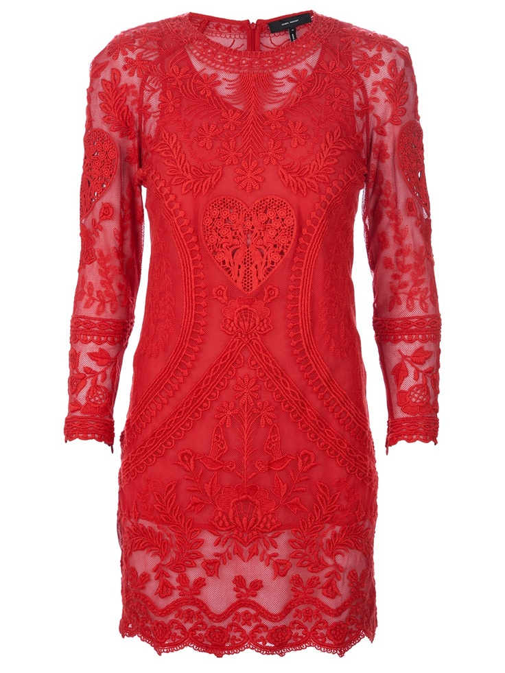 ISABEL MARANT lace dress ($955) ❤ liked on Polyvore