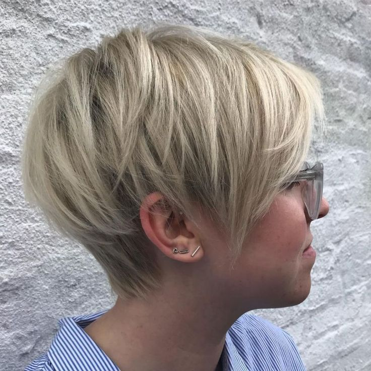 Long Pixie with Angled Layers