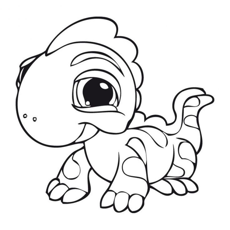 Baby Iguana From Free Littlest Pet Shop Coloring Pages To Print For Kids