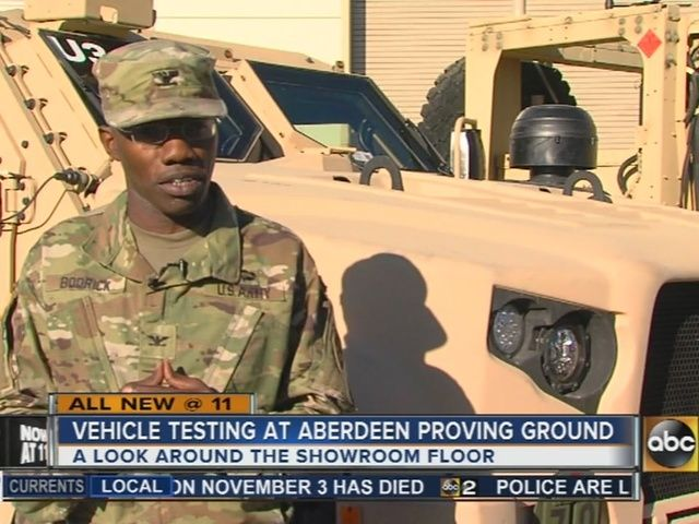 Aberdeen Proving Ground is looking to put a tarp over the humvee and put it in the storage ground.
