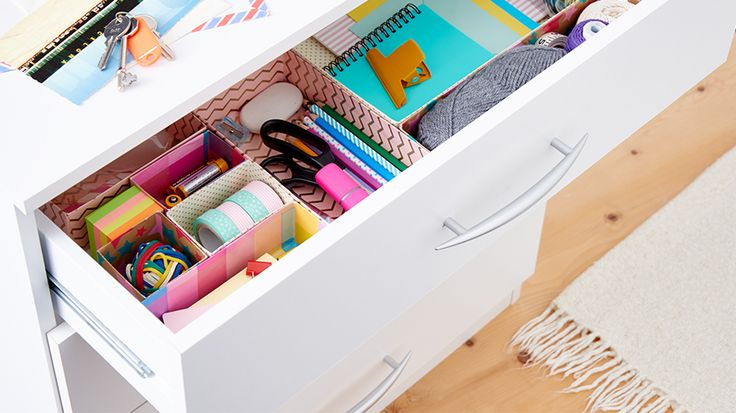 Best 20 drawer organisers ideas on pinterest makeup for Cardboard drawers ikea