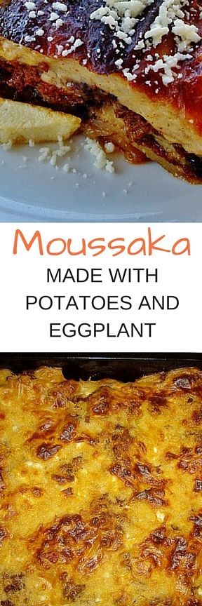 This #Greek style #moussaka boasts potatoes, meat, #eggplant and tomato, as well as a creamy bechamel sauce. Enjoy this phenomenal dish with fries or a salad, or both.