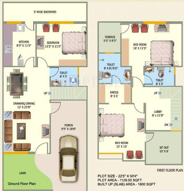 House Plan 20 X 50 Sq Ft Google Search Architectural House Plans Interior Floor Plan House Paint Interior