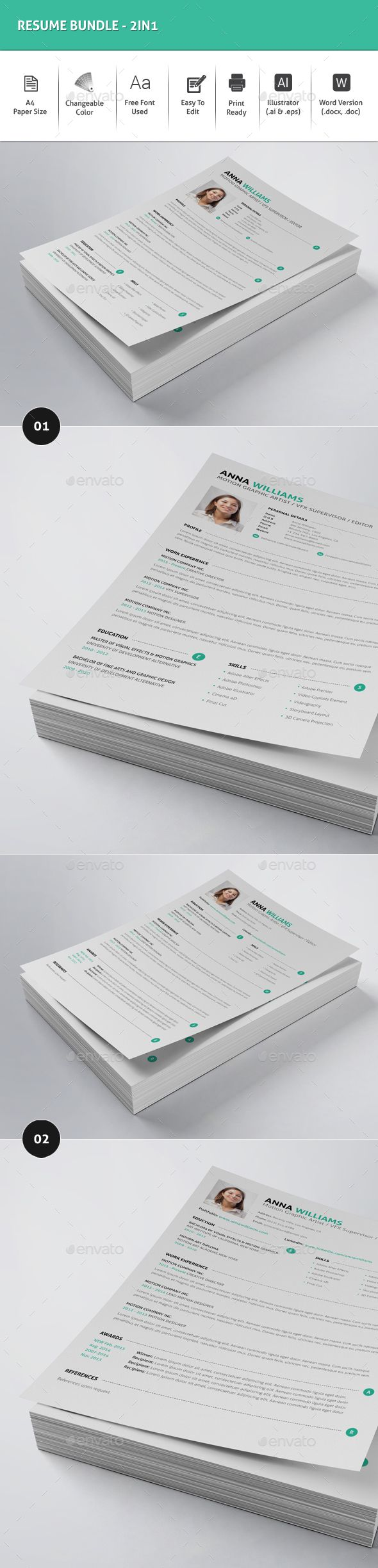 Resume Template Download%0A Resume Bundle   in