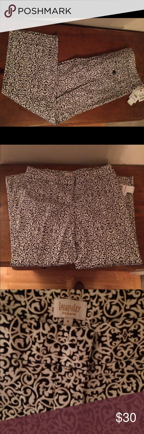 Ankle Patterned Chinos BNWT, never worn patterned chinos. Super comfy, size 6. Great for work, can easily be dressed up or down. No trades❌ Laundry by Shelli Segal Pants Ankle & Cropped