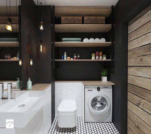 Aranżacje wnętrz - Łazienka: projekt 15 - Mała łazienka w bloku bez okna, styl industrialny - PASS architekci. Przeglądaj, dodawaj i zapisuj najlepsze zdjęcia, pomysły i inspiracje designerskie. W bazie mamy już prawie milion fotografii!