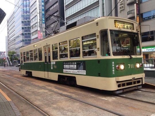 #hiroshima y los #streetcar  #japan #travel #festival #backpacker #iphone (en Hiroshima-shi, Hiroshima, Japan)