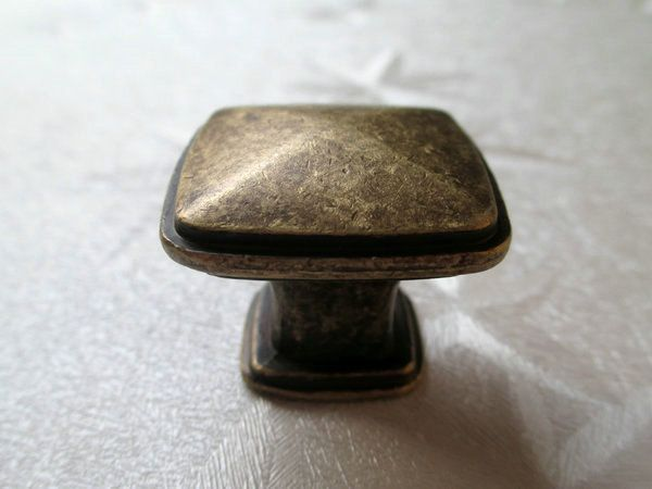 Elegant Antik Messing Quadrat M bel knauf Kn ufe Griff von LynnsGraceland auf DaWanda