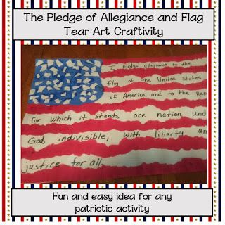 The Pledge of Allegiance Activity and Freebie
