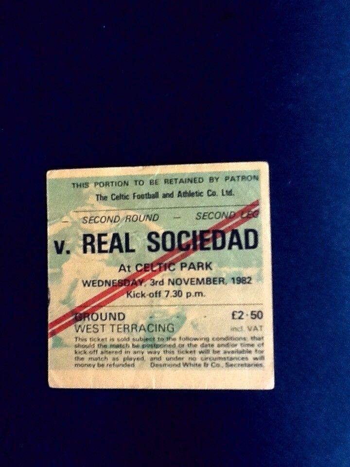 Celtic v Real Sociedad 3/11/1982 European Cup  | eBay
