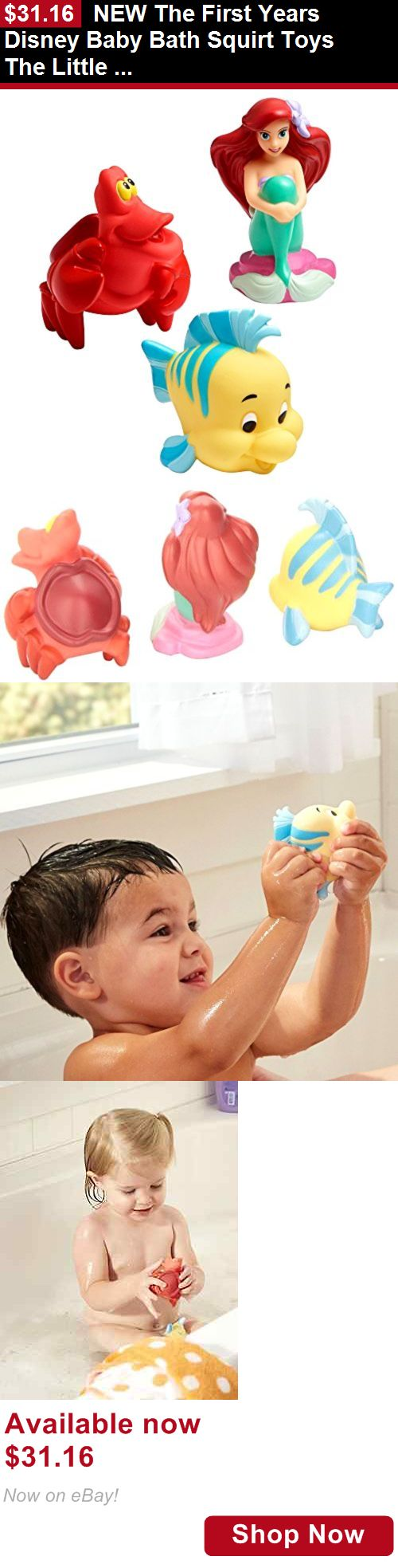 Baby Bathing Accessories: New The First Years Disney Baby Bath Squirt Toys The Little Mermaid BUY IT NOW ONLY: $31.16