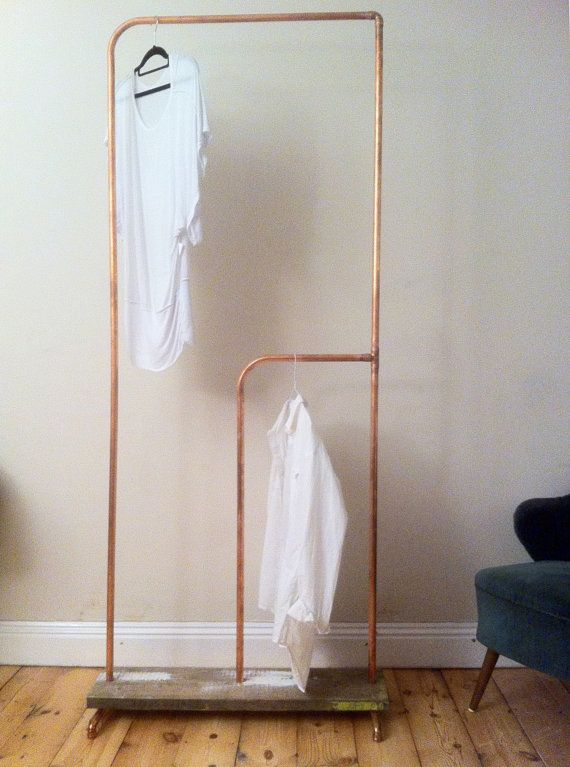 Built to spec copper clothes rail with scaffold by SilverCornwall