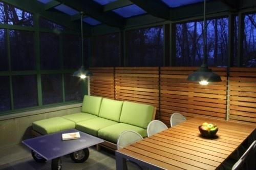 Timber Framed Screened Porch modern porch