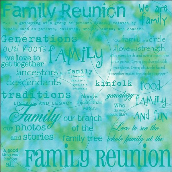 "Family Reunion 12"" x 12"" Scrapbook Paper"