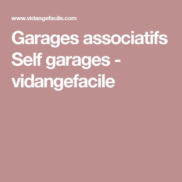 Garages associatifs Self garages - vidangefacile