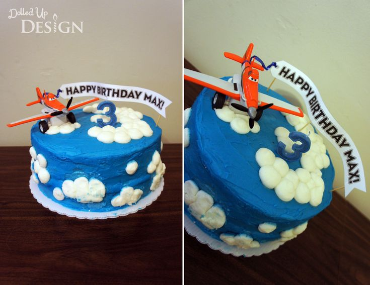High Flying Planes Cake - DolledUpDesign