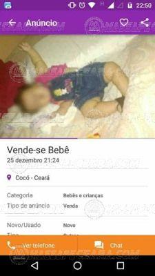 Que absurdo em Fortaleza homem anuncia no site da OLX venda de uma criança de 5 meses: ift.tt/2ixkJsu