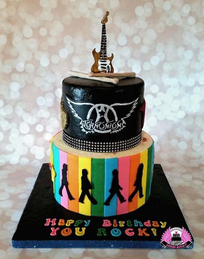 Guitar Beatles Aerosmith Birthday Cake Cake By Cakes