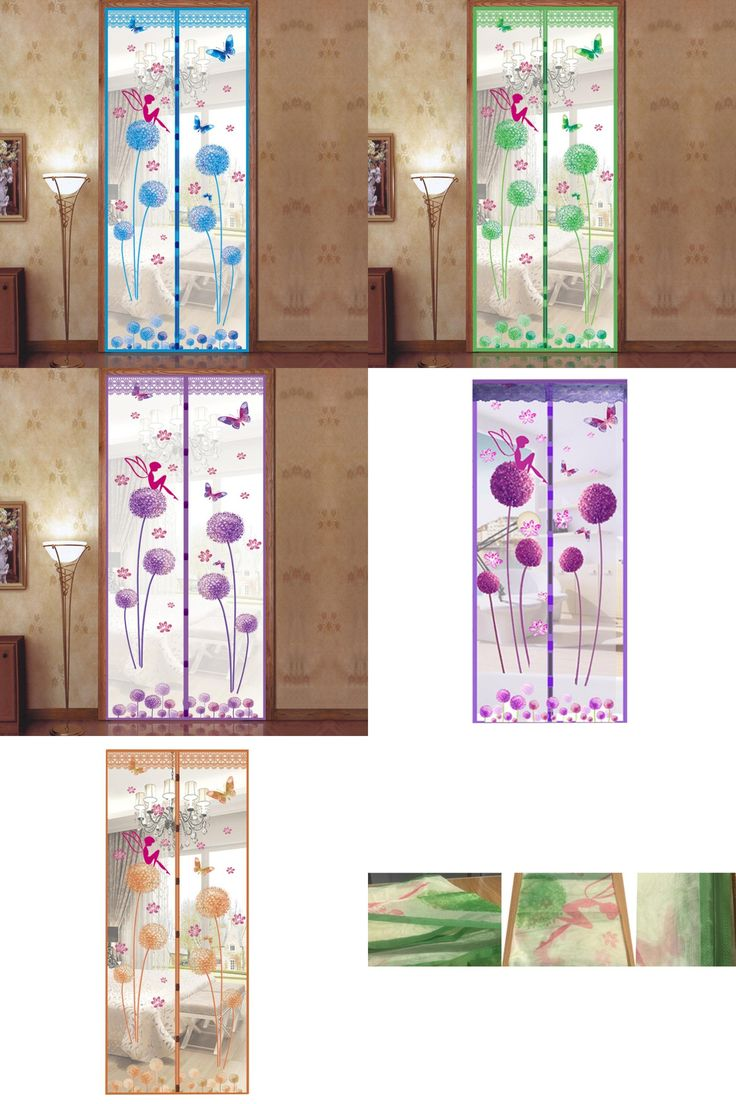 [Visit to Buy] 1Pc 90*210cm Net Door Magnetic Mesh Screen Door Mosquito Net Curtain Protect From Fly Insects #Advertisement