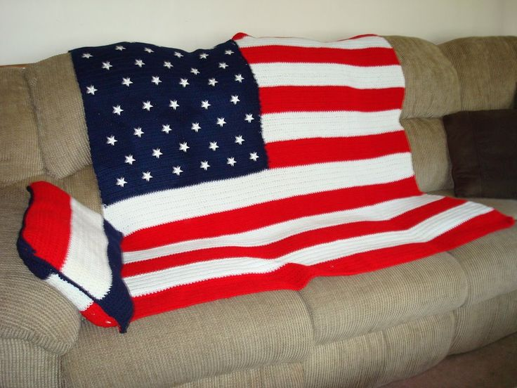 Crocheted with Red Label yarn during 9-11 - I had to do something, and this is what I came up with.  This particular item costs:  Yarn etc. Is approximately $35 & all together for the time approximately a month.  $125.00  (pillow included).
