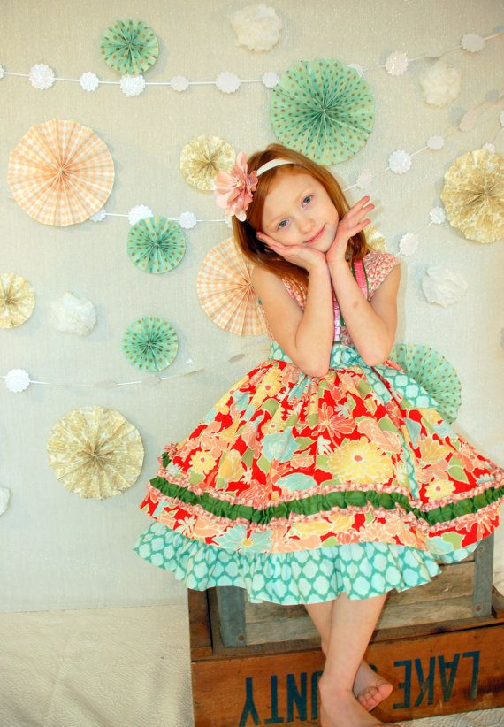pretty party dress - limited edition size 5 on Etsy, $85.00