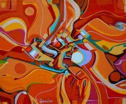 Southwest Visit painting Alex_Janvier