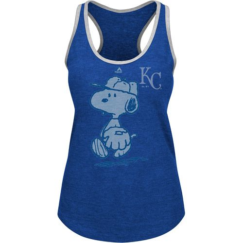 Kansas City Royals Women's Peanuts Tank by Majestic Athletic - MLB.com Shop