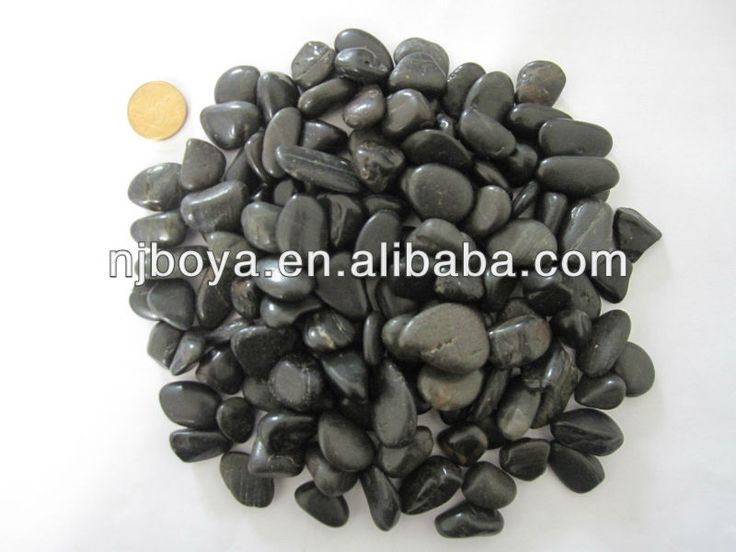 black natural river rock, landscaping paving river stone, pebble