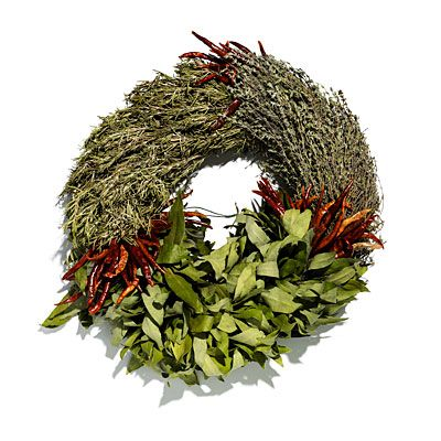 Christmas is less than a week away. Still looking for gifts? For the cook in your family, try this  Culinary Three-Herb Wreath. #giftguide #holidays | Health.com