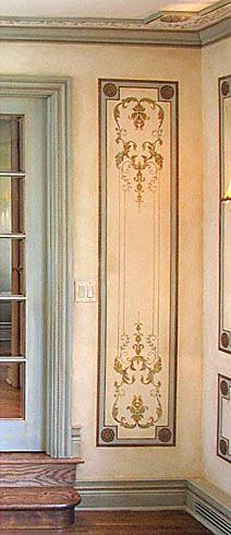 Want this for the column inside the front door. Cutting Edge Stencils - Versailles Side Panel Stencil