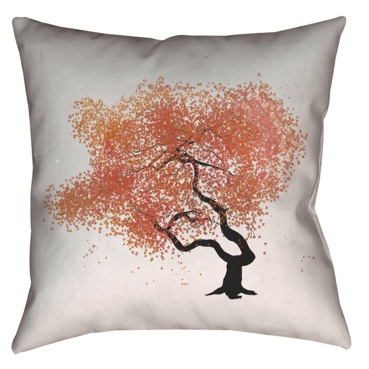 Zen Tree - Pillow     Pilllow made and printed in USA. Spun polyester fabric, desigend for indoor use.   Design made with unk and digital effect.