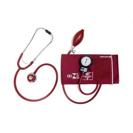APARELHO DE PRESSÃO AD. NYLON VELCRO + ESTETO VINHO BIC   Melhor Preço! - Cirúrgica Joinville   Produtos Médicos e Hospitalares