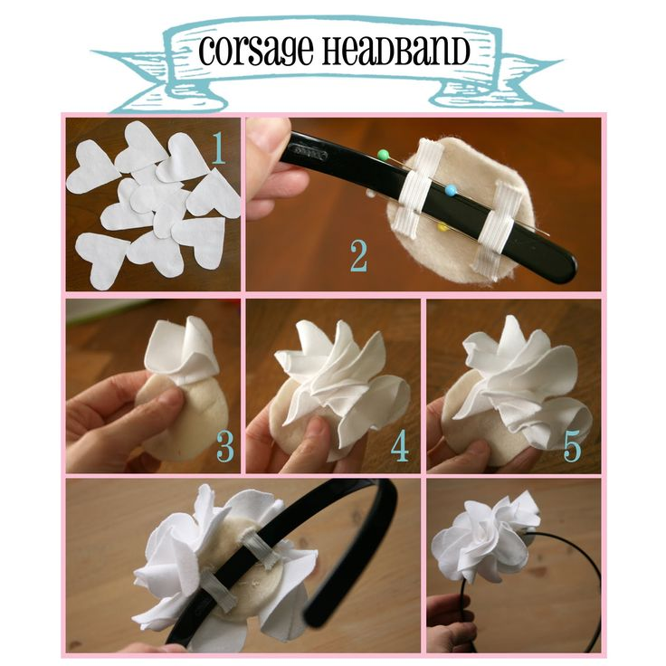 Making Life a Little Sweeter: Corsage Headband Tutorial