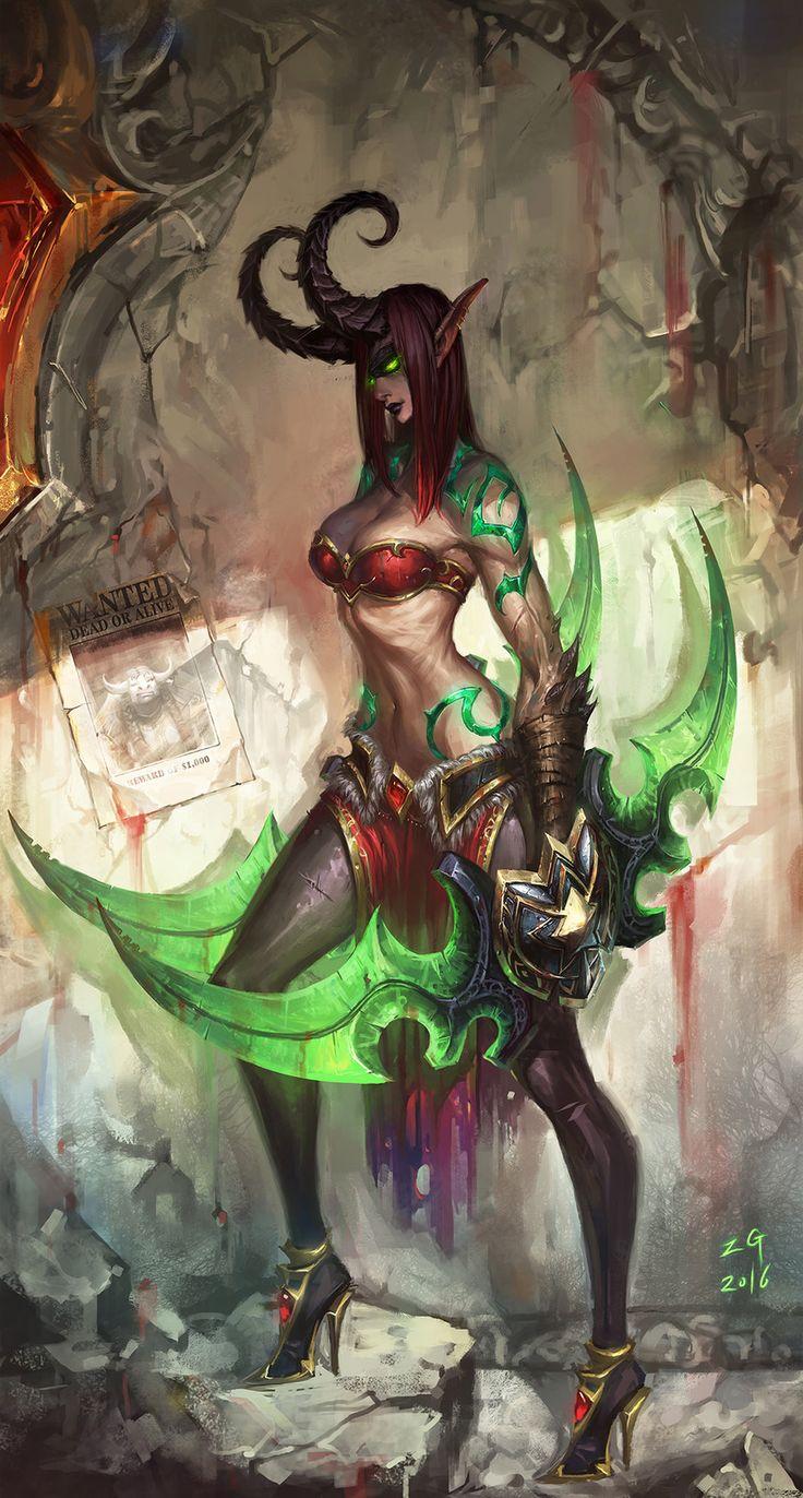Demon hunter, MY NAME IS ZG on ArtStation at https://www.artstation.com/artwork/2Q66J