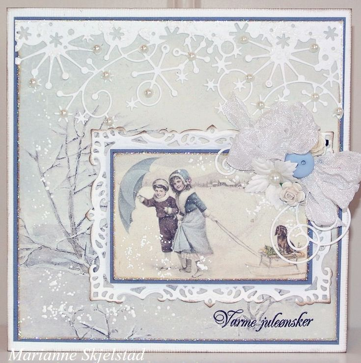 For today's card I have used the wintery blue papers from the Days of Winter collection.Have a nice day,Marianne.Pion products:Days of Winter – Erik and Elsa PD5102Days of Winter – Images PD5111