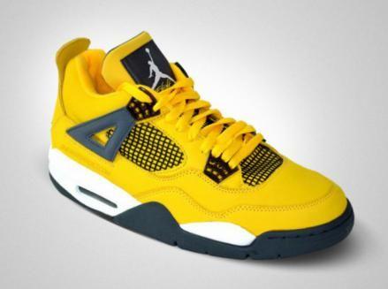 NIKE AIR JORDAN 4 RETRO QS TOUR YELLOW/DARK BLUE-GREY-WHITE #sneaker