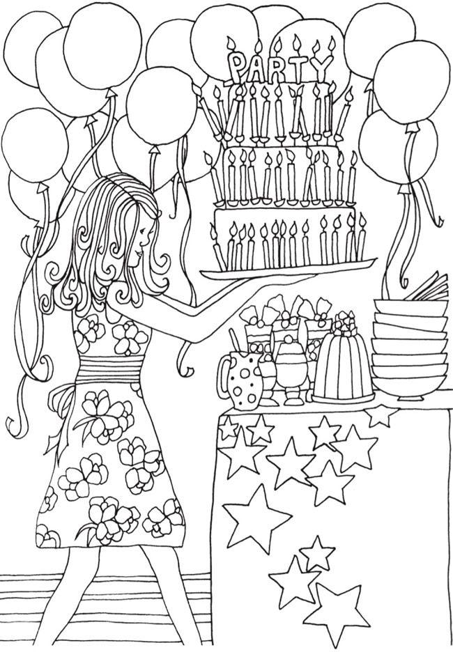 133 besten Coloring: B-day\'s, Parties & More Bilder auf Pinterest ...