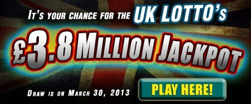 UK Lotto Draw: GBP 3.8M on March 30