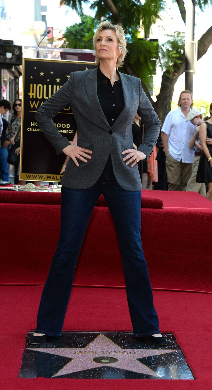 Jane Lynch gets a star on the Hollywood Walk of Fame ♥. #AProudGleekHere