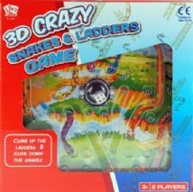 Crazy Snakes And Ladders 3D Board Game