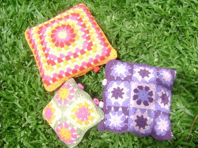 Almohadones tejidos a crochet - fundas