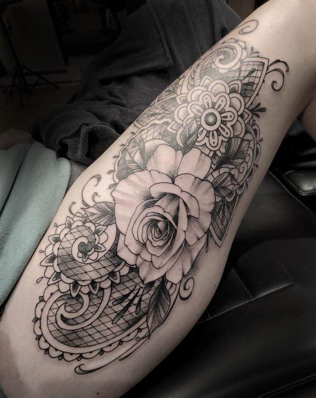 Rose Lace Mandala Tattoo Tattoos Armor Tattoo Tattoo Shop