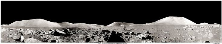 Description: (1972) What would it be like to explore the surface of another world? In 1972 during the Apollo 17 mission, astronaut Harrison Schmitt found out first hand. In this case, the world was Earth's own Moon . In this recently compiled panorama of lunar photographs originally taken by astronaut Eugene Cernan, the magnificent desolation of the barren Moon is apparent. Visible above and by scrolling right are lunar rocks  in the foreground, lunar mountains in the background, some sma...