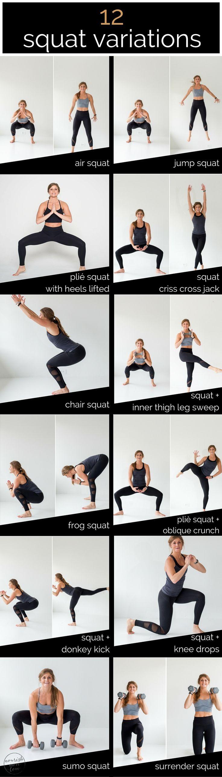 my motto, when in doubt squat it out! so if youre looking to mix up your lower body routine try incorporating these 12 squat variations which you can turn into a lower body amarp workout.