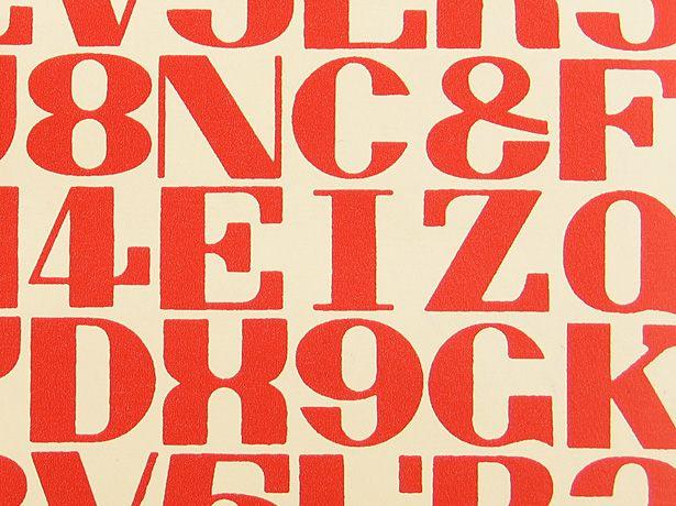 alphabet, 1952 • alexander girard • maharam